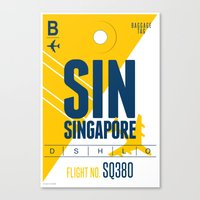 singapore Canvas Prints featuring Singapore Tag by Studio Tesouro