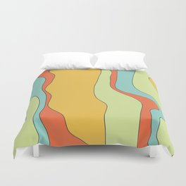 Curly lines of colour pattern Duvet Cover