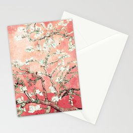 Van Gogh Almond Blossoms : Peach Stationery Cards