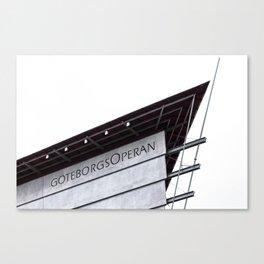The Gothenburg Opera House Canvas Print