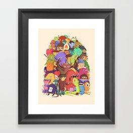 Dogpile Framed Art Print