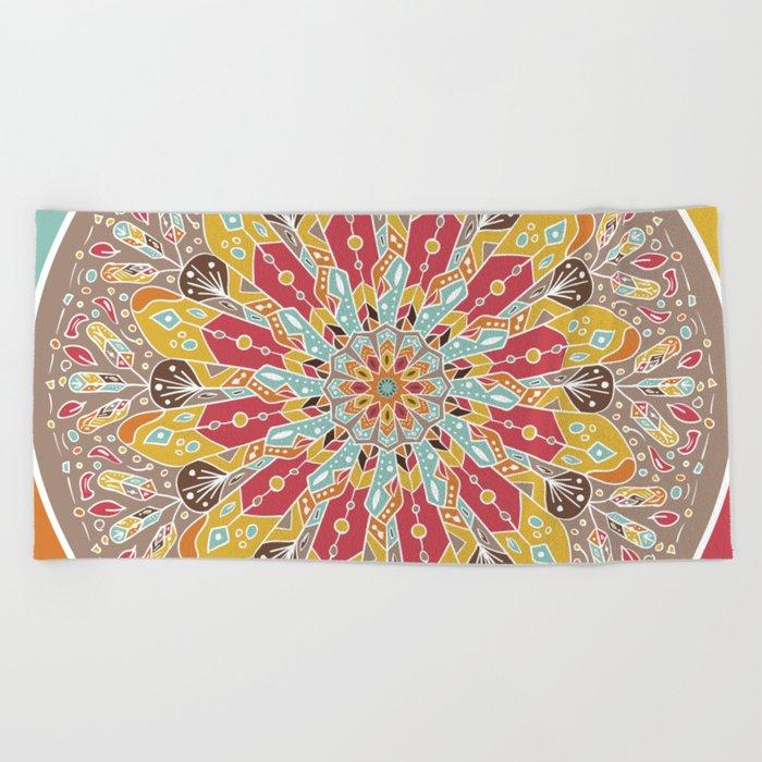 Mandala Boho Style Beach Towel