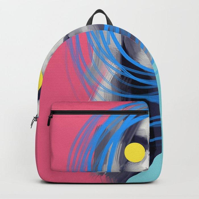 Brow Cara, POP art style, digitally painted Backpack
