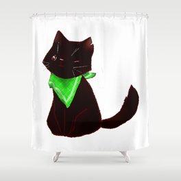 Cat-pirate Shower Curtain