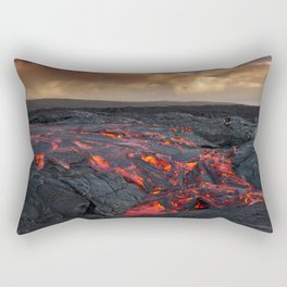Kamukona (61g) Lava on the Big Island, Hawaii Rectangular Pillow