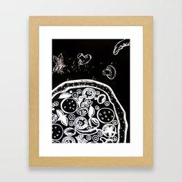 Pizza lovers  #society6 #decor #buyart #artprint Framed Art Print