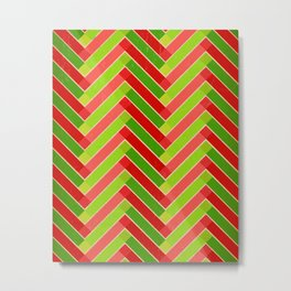 Holly Go Chevron Metal Print