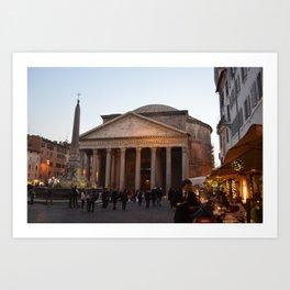 the pantheon Art Print