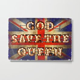 God save the Queen - GB Metal Print