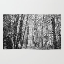 Winter Forest scenic. Rug