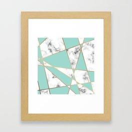 Marble Geometry 055 Framed Art Print