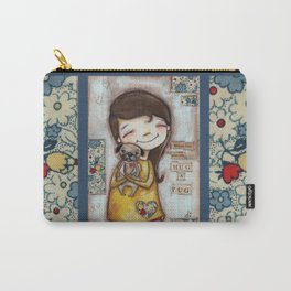 Pug Hug by Diane Duda Carry-All Pouch