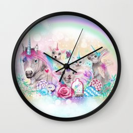 We All Just Want to be Unicorns Wall Clock