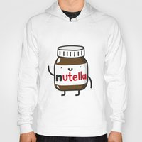 nutella Hoodies featuring HAPPY NUTELLA IS HAPPY by Agustin Flowalistik