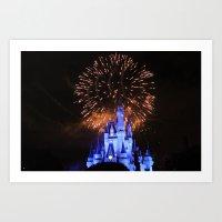 Castle Lights Art Print