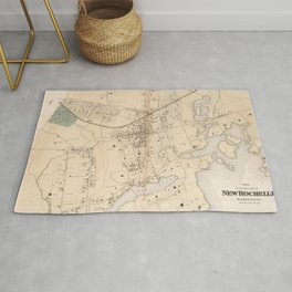 Vintage Map of New Rochelle NY (1867) Rug