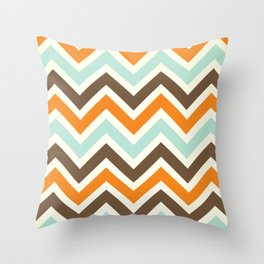 Orange Pop Chevron Throw Pillow