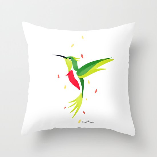 Hummingbird 2 Throw Pillow