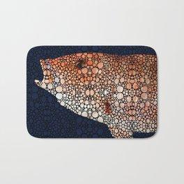 Red Grouper Fish - Florida Art By Sharon Cummings Bath Mat