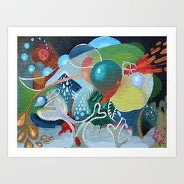 Abstract Sea Art Print
