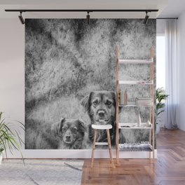 Couple of Dogs Wall Mural