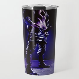 Gay - Nude male man in leather outfit Travel Mug