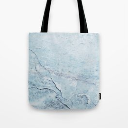 Light Blue Marble Tote Bag