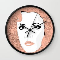 stevie nicks Wall Clocks featuring Stevie by IN SEARCH OF GOOD THINGS