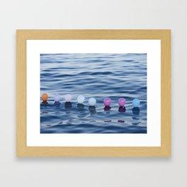 baloon sea Framed Art Print