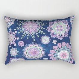 Folky SnowFlowers Rectangular Pillow