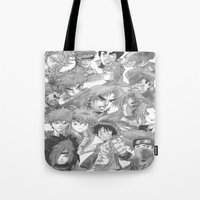 anime Tote Bags featuring Anime by Hitmakerzpro
