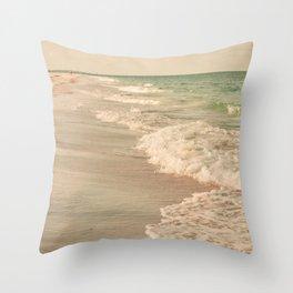 Tropical Beach Love Throw Pillow