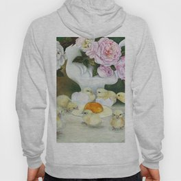 Pink Rose Yellow Chicks Hoody