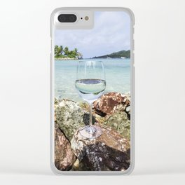 Wine View in Paradise Clear iPhone Case