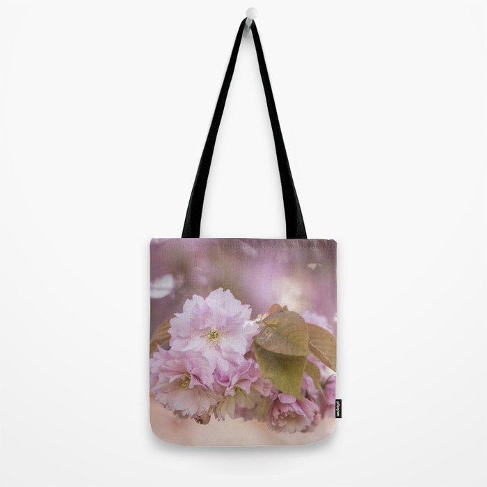Cherry Blossom LOVE - Sakura - Pink Flower Flowers Tote Bag