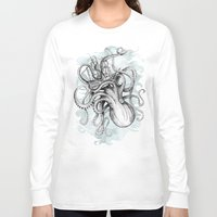 kraken Long Sleeve T-shirts featuring The Baltic Sea by David Fleck