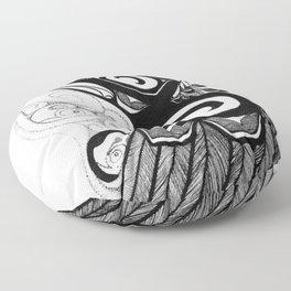 Raven Steals the Water Floor Pillow