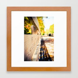 Fall in Milwaukee Framed Art Print