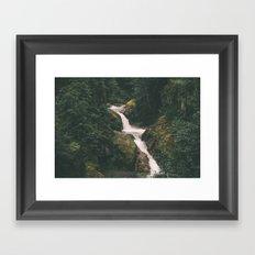 Lava Canyon Falls Framed Art Print