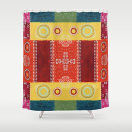 Paper Patchwork Shower Curtain