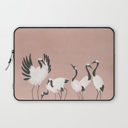 Crane Dance - Mauve Pink Laptop Sleeve