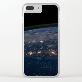 Earths Atmosphere at Night Clear iPhone Case