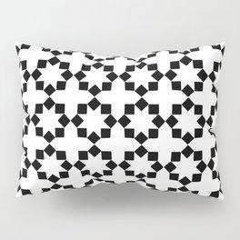 Elegant Tile Pattern - White Background Pillow Sham