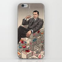 mad men iPhone & iPod Skins featuring Mad Men by David M. Buisán