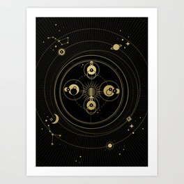 Mercury Orbit Art Print