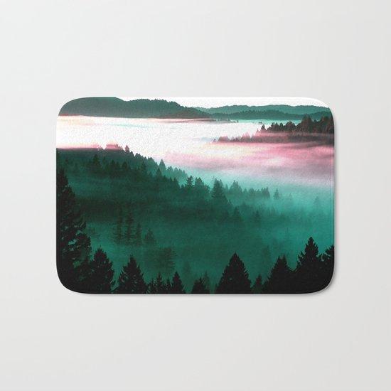 Misty Mountains Morning : Magenta Mauve Teal Bath Mat