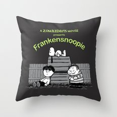 Frankensnoopie Throw Pillow