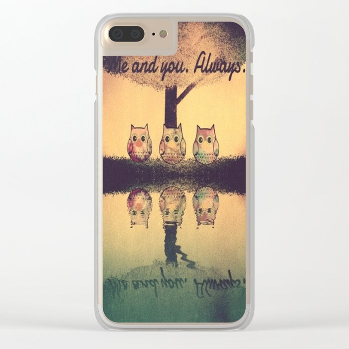 owl-204 Clear iPhone Case