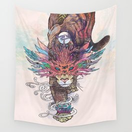 Journeying Spirit (Mountain Lion) Wall Tapestry