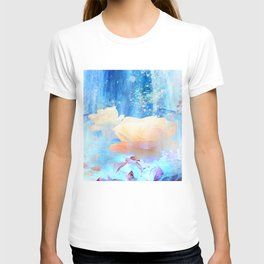 Yellow Roses By The Bridge By Annie Zeno T-shirt